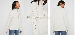 Nike Air Women's Sportswear 1/2-Zip Fleece Top Ivory/Rose Gold S, M