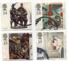 GB Stamps. SG1767-1770. 1993 Europa. Contemporary Art. Multicoloured Used