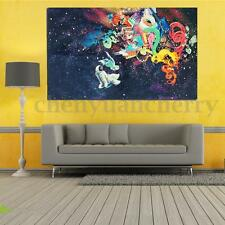 """Psychedelic Trippy Modern Abstract Art Silk Fabric Cloth Poster Decor 36x24"""""""