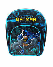 DC Comics Batman Blueprint Backpack With Pocket Black & Blue Rucksack School Bag