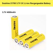 4x Soshine 4000mah 3.7v 3c 21700 High Drain Flat Top Recgargeable Battery Yellow