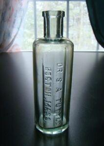 Antique Twelve Sided DR. S.A. TUTTLE - BOSTON, MASS. Quack Medicine Bottle