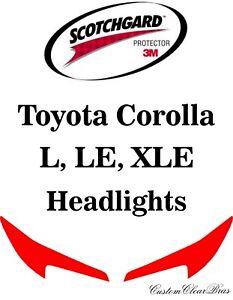 3M Scotchgard Paint Protection Film Clear Kit 2020 2021 Toyota Corolla L LE XLE