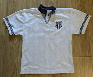 ENGLAND 1990/1991/1992/1993 HOME FOOTBALL SHIRT  SCORE DRAW REPLICA XS/SMALL