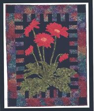 Gerbera Daisy applique quilt pattern by Cleo's Designs