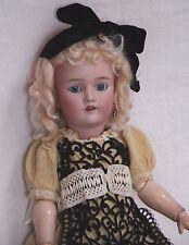"22 1/2"" Antique Doll - DEP Handwerck Halbig, Blue Eyes, Blond Mohair Wig, Comp"