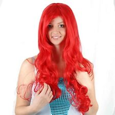 The Little Mermaid Cosplay Wig Princess Ariel Long Red Curly Wave Hair Synthetic