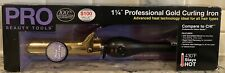 """Pro Tools 1 1/4"""" Professional Gold Curling Iron New** Free Shipping"""
