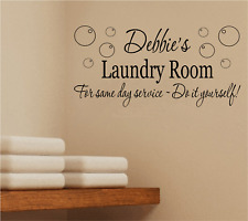 PERSONALISED LAUNDRY UTILITY WASHING ROOM FOR SAME DAY QUOTE WALL ART STICKER
