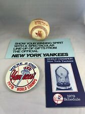 1978 Rawlings World Series Official Baseball Haiti New York Yankees Champs Lot