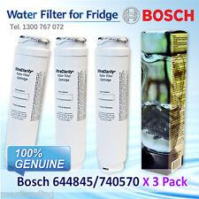 3X 740570 644845 9000077104 BOSCH REFRIGERATOR WATER FILTER for model KFN91PJ10A