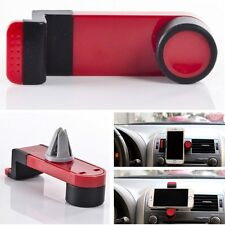 Car Suv Air Frame Vent Mount Cradle Bracket Stand Red Clip Holder For iPhone 5 6