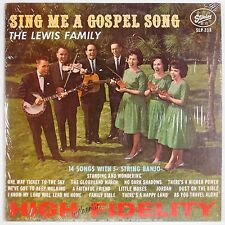 THE LEWIS FAMILY: Sing Me A Gospel Song STARDAY Country Bluegrass LP '63