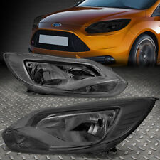 For 12-14 Ford Focus Smoked Housing Clear Corner Headlight Replacement Head Lamp (Fits: Ford Focus)