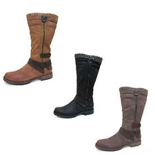 Spot On Synthetic Low Heel (0.5-1.5 in.) Boots for Women