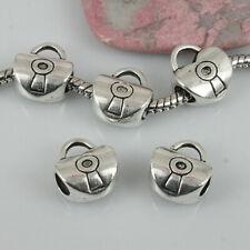 8pcs tibetan silver heart-shaped handbag style Loose Bead EF0409