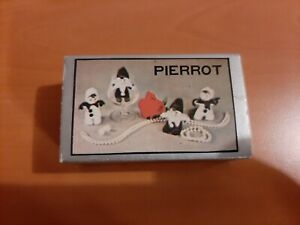 Vintage Pierrot Clown Mini Doll In Matchbox