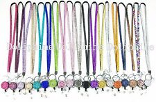 LANYARD 3 mm Rhinestone with Retractable Badge Reel holder belt clip