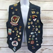 GWRRA Honda Gold Wing Road Riders Club Patch Pins Motorcycle Denim Vest 80-90s A
