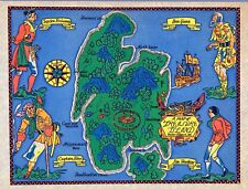 A Map of Treasure Island fantasy 1960 pictorial world map POSTER 12113