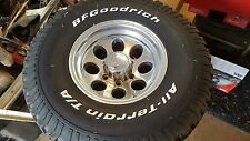 BF GOODRICH ALL TERRAIN T/A POLISHED ALUMINUM RIM 33X10.5R15 USED TIRE ION WHEEL