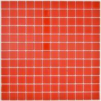 Mosaik Fliese Transluzent rot quadratisch Glasmosaik rot WB63-0902 |1 Matte