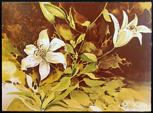 """Mary Vander Molen """"Sterling Star Lily"""" Hand Signed Limited Edition Serigraph OBO"""