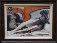 SIR ROBIN PHILPSON PRSA 1916-1992 SCOTTISH OIL PAINTING FEMALE NUDE PORTRAIT
