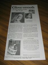 1925 Print Ad Williams Lather Shave Cream Glove Smooth