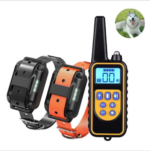 Remote Electric Dog Shock Training Collar Rechargeable WaterproofLCD Pet Trainer