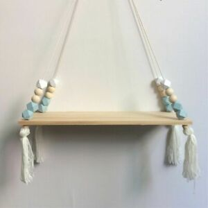 Wooden Wall Shelfs Colorful Beads Tassel Clapboard Decorations Children Rooms