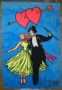 Ballroom Dancers, wall art, fairground art, original artwork, love hearts, cool