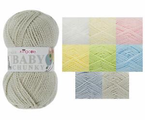 King Cole Big Value BABY CHUNKY Wool Yarn Knitting Premium Acrylic 100g