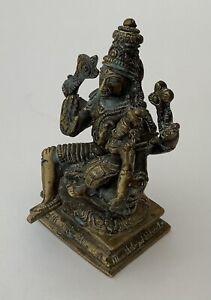 ANTIQUE HINDU GODDESS DEITY STATUE - SHASHTHI / DEVASENA Lakshminarasimha