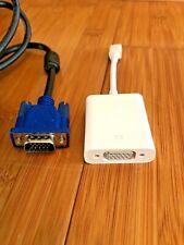Mac Mini DisplayPort (Male) to VGA (Female) Adapter + 5FT SVGA VGA Monitor Cable