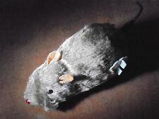 """6"""" Brown Furry Fake Rat Mouse Windup Cat Pet Toy Halloween Prank Prop Scares"""