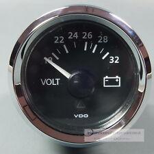 VDO Voltmeter strumento Gauge + LED 24v 52mm New Generation CLASSIC CROMO