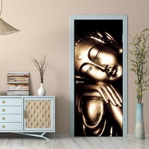 New 3D Vinyl Abstract Door Wall Sticker Self-adhesive Mural Home Decor