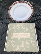 4 WEDGWOOD HOME IMPROVISATION DINNER PLATES Twirling Ribbon 1998 Amway IN BOX