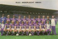 FOOTBALL R.S.C ANDERLECHT 1980/81 CALENDRIER KALENDER CARD GEUZE BELLE-VUE