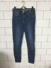 WOMENS BLUE BOLD TOPSHOP LEIGH FESTIVAL URBAN SKINNY JEANS SIZE W26 L32