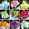 "100pcs LATEX BALLOONS 10"" PARTY BIRTHDAY WEDDING HELIUM AIR DECORATION"