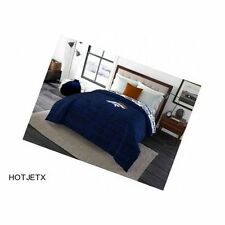DENVER BRONCOS BEDDING COMFORTER TWIN FULL BLUE NFL FOOTBALL SUPERBOWL GPS HD TV