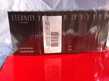 Calvin Klein Eternity FOR MEN Eau de Parfum SAMPLE SIZE 1.2ml. GET 12 Samples