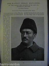 Dr Sven Hedin Explorer Exploration Travel in East Antique Victorian Article 1897