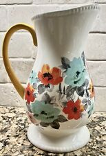 The Pioneer Woman Flea Market Decorated Floral 2-Quart Pitcher New