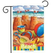 "Gone to the Beach Summer Garden Flag Nautical Sand Castles 12.5"" x 18"""