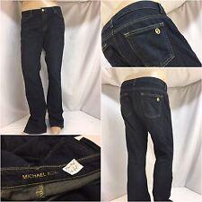 Michael Kors Jeans Sz 10 Dark Wash Bootcut Cotton Lycra EUC 35x34 YGI 5661