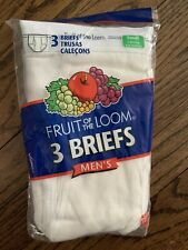 1 Pack Of 3 Vintage Fruit Of The Loom Men's Briefs Size Small 30-32 Sexy 00s