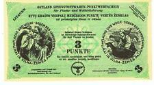 Germany Ostland Lithuania - 3 Punkt 1943/44 WWII
